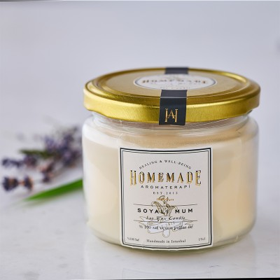 Patchouli & Lavender Soy Wax Candle-big