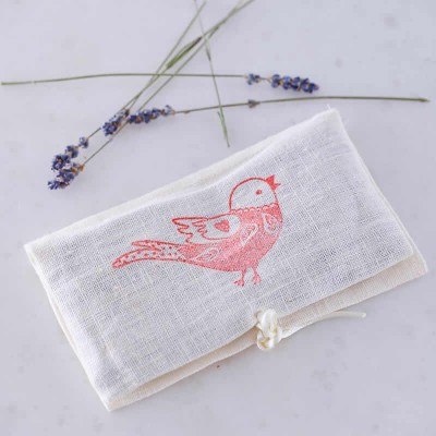 Bird Lavender Purse